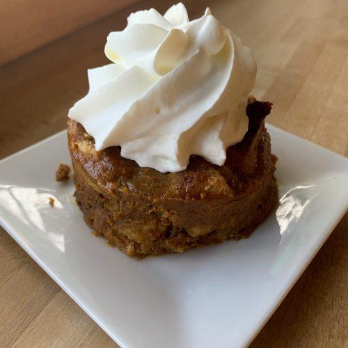 pumpkin Kouign Amann bread pudding